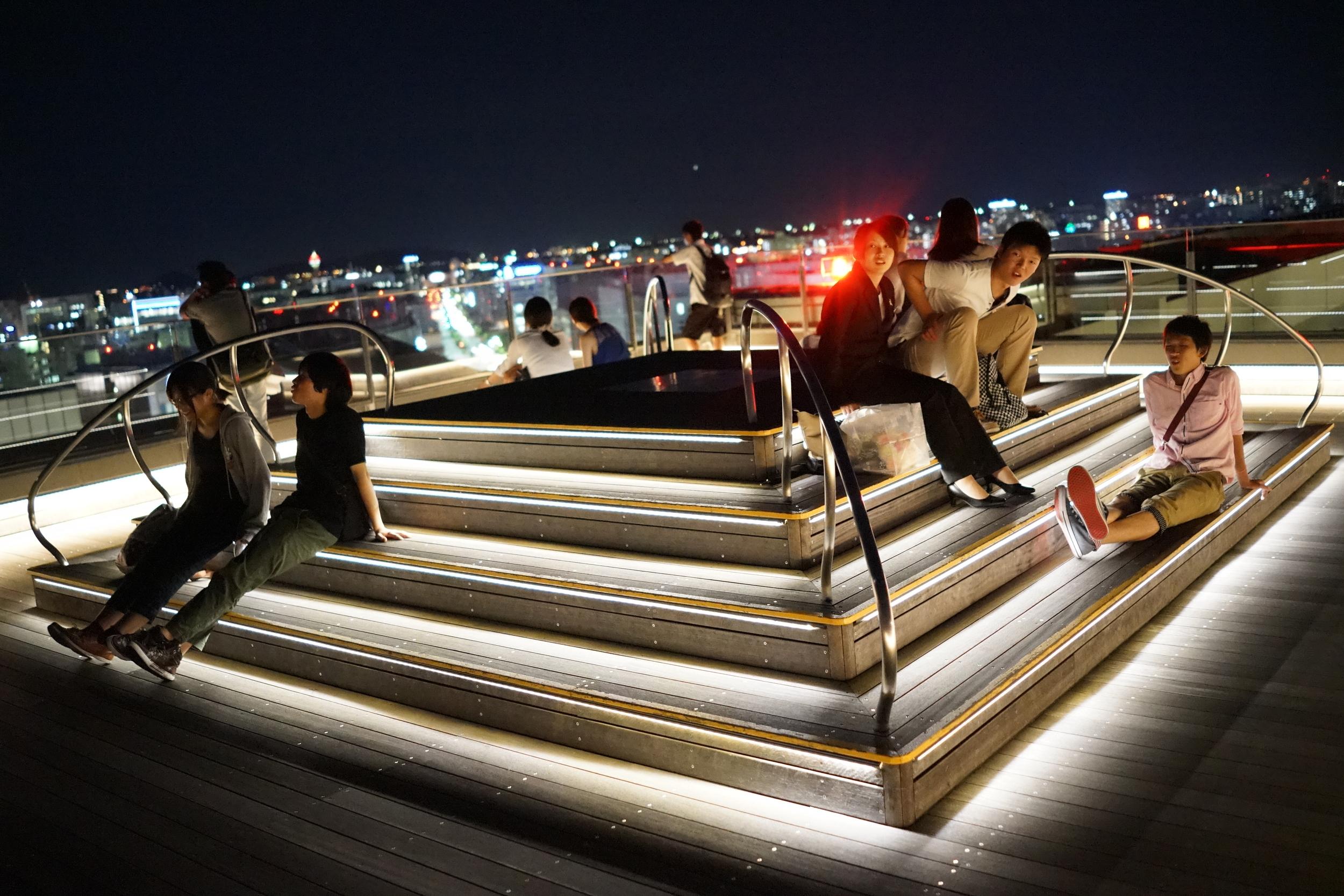 JR Hakata City rooftop deck, Fukuoka
