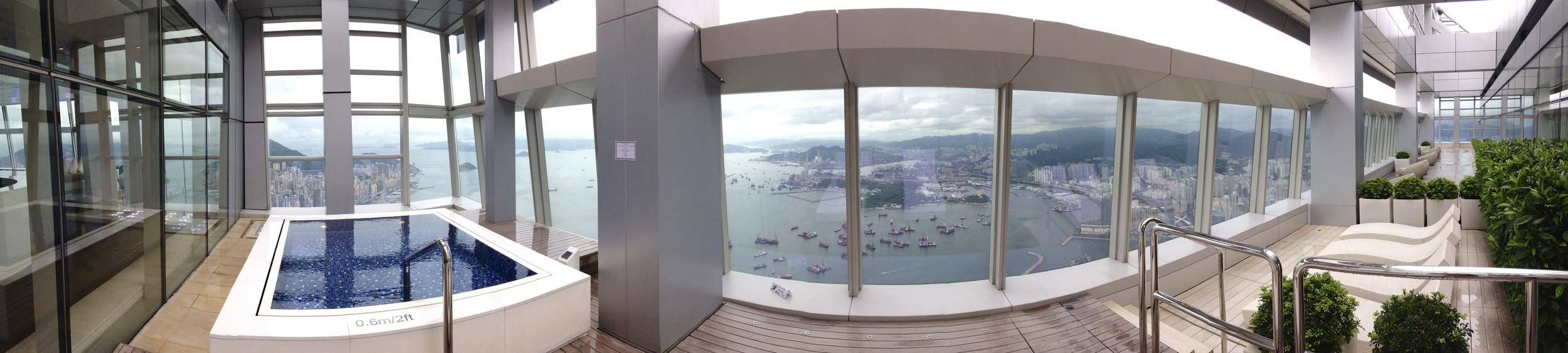 Outdoor Pool, 118th floor, Ritz-Carlton Hong Kong