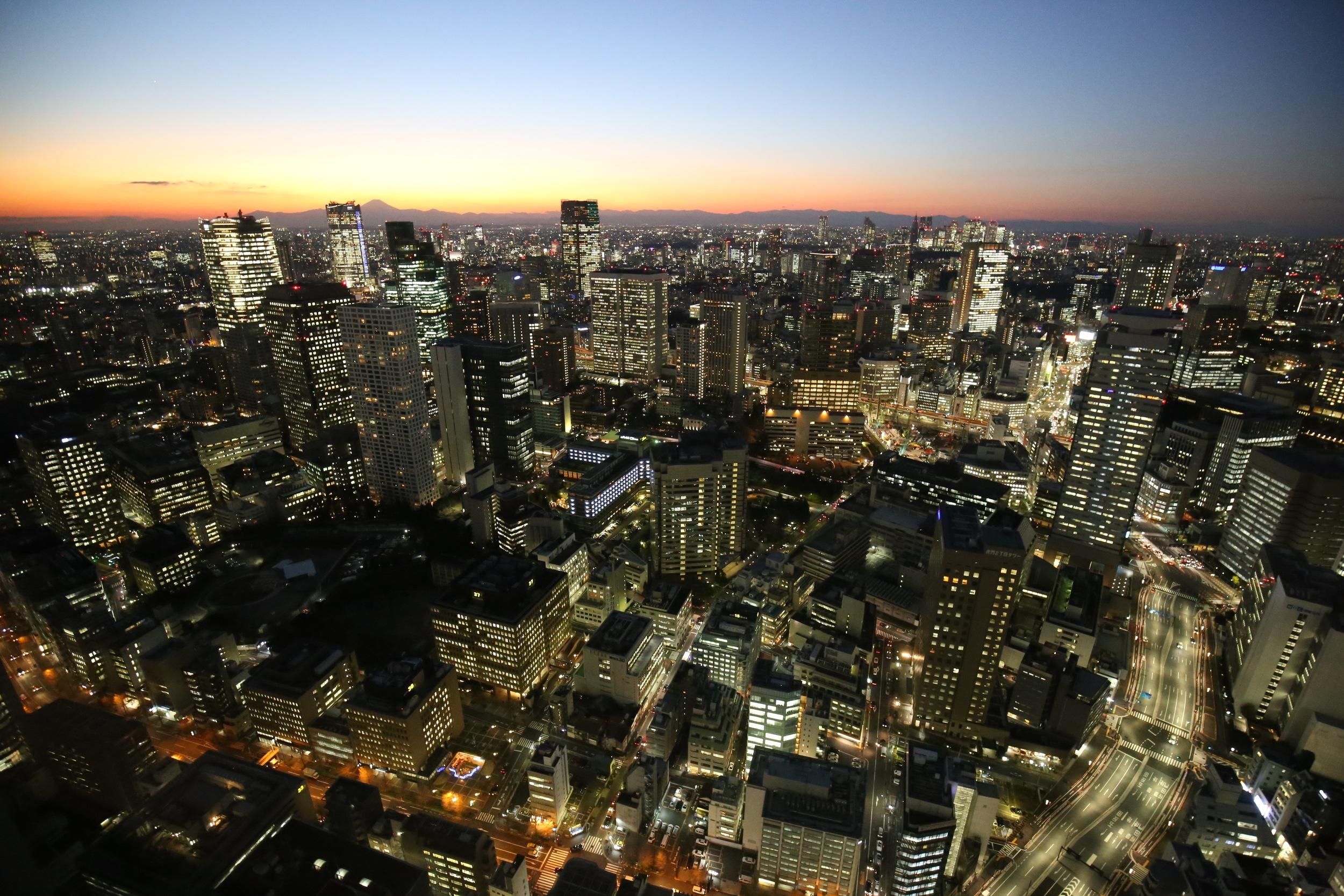 View from the Andaz Hotel, Taranomon Hills, Tokyo