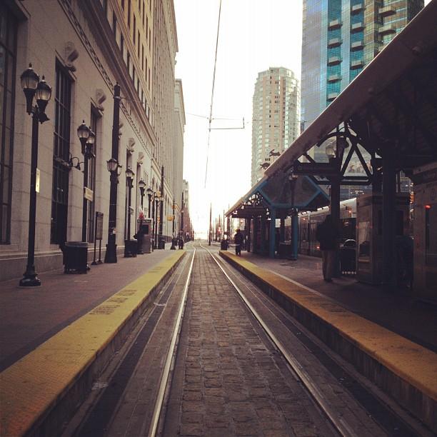 Light rail tracks.  (Taken with  instagram )