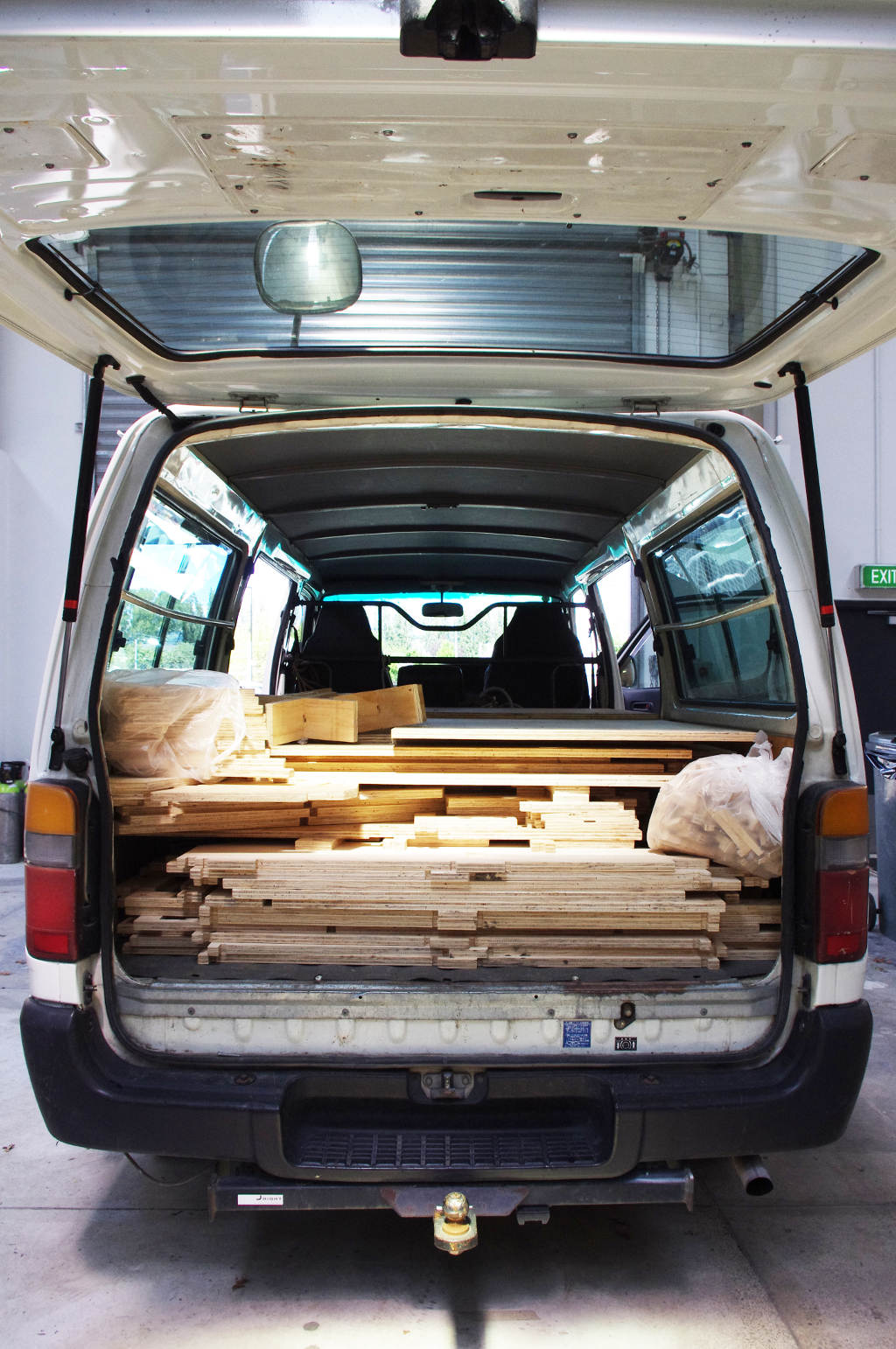 The whole WikiHouse packs down into a standard van in around an hour