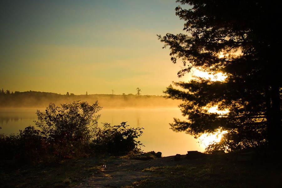 Misty Morning Sunrise at Cairn