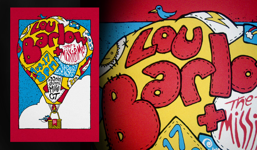 Lou Barlow / Wye Oak gigposter