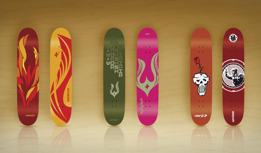 Worship Skateboard decks