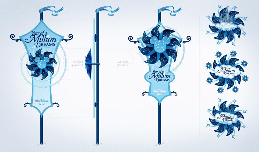 Disney's Year of a Million Dreams signage