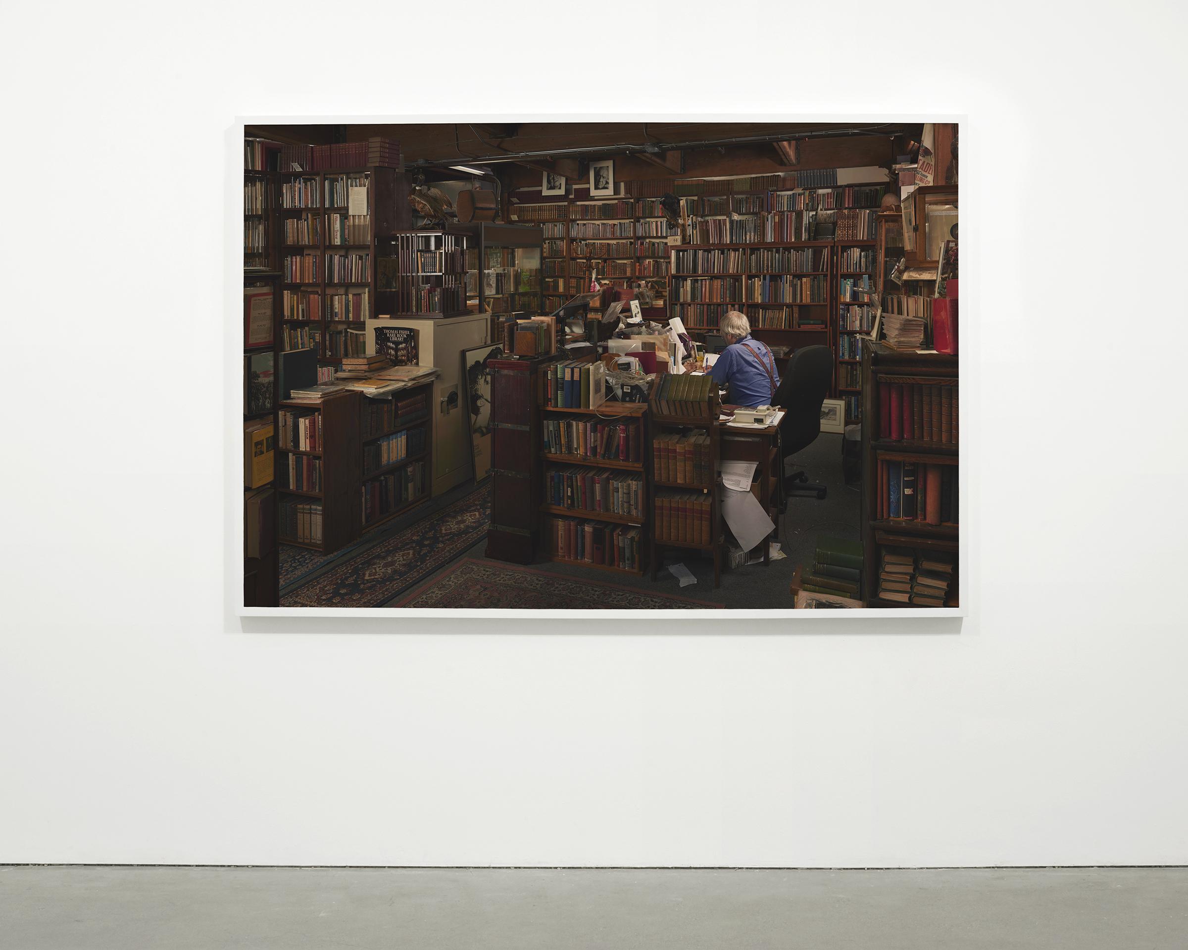 """""""Antiquarian Bookstore"""", 2015 - 2016  54 x 78.5 in. (137.15 x 199.39 cm)"""