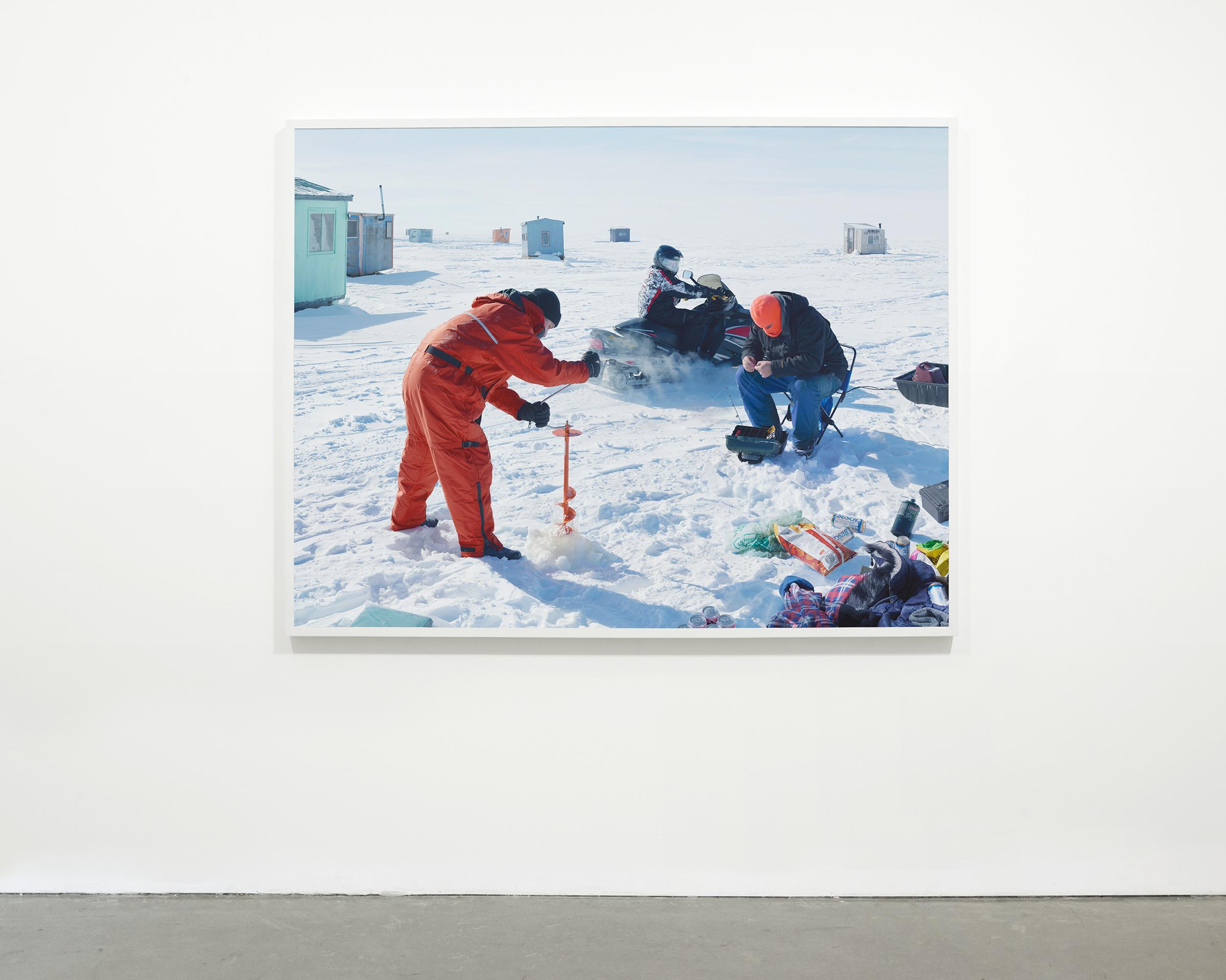 """Ice Fishing"", 2015  54 x 70.5 in. (137.15 x 179.07 cm)"