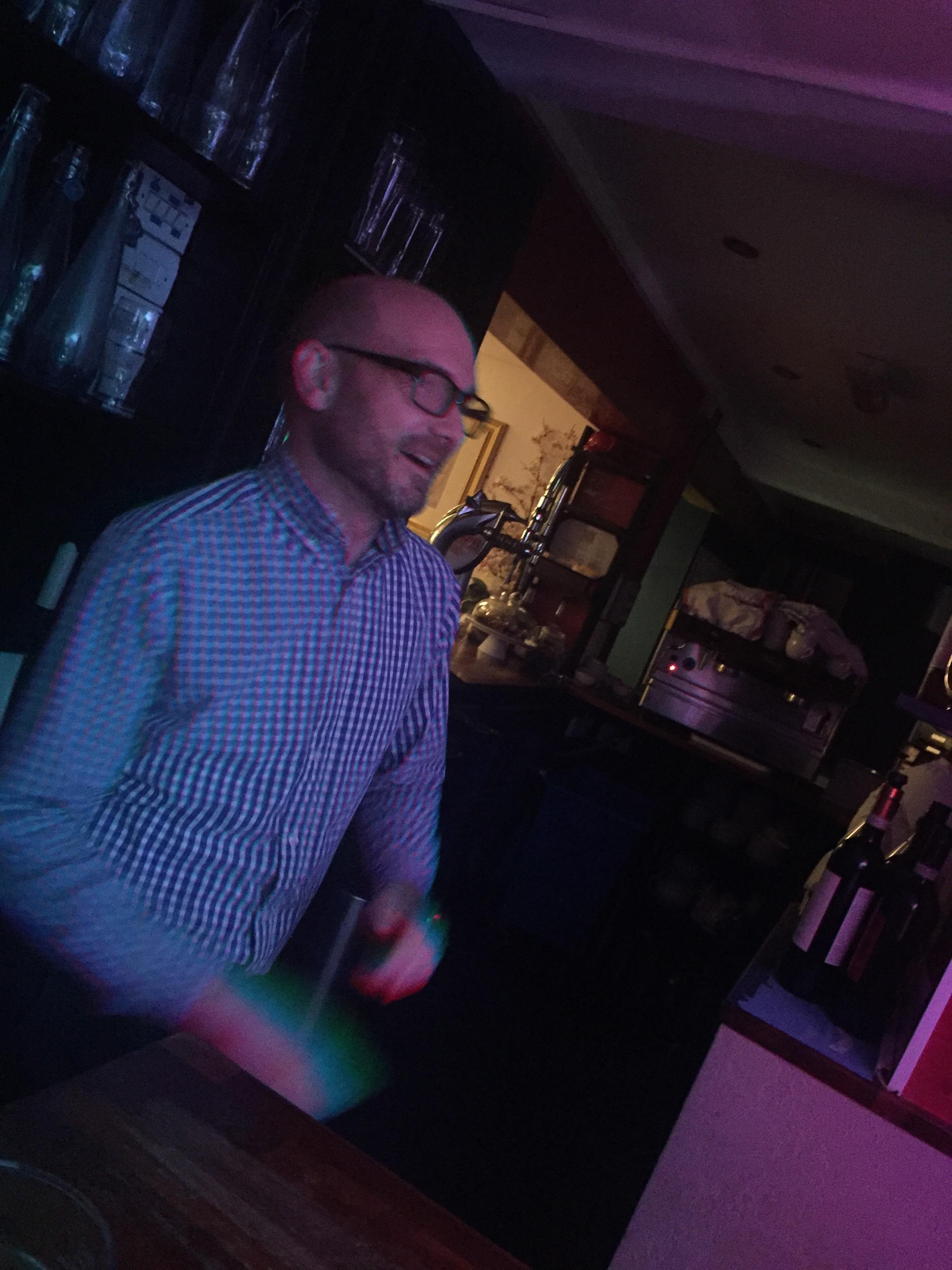 Boogying behind the bar