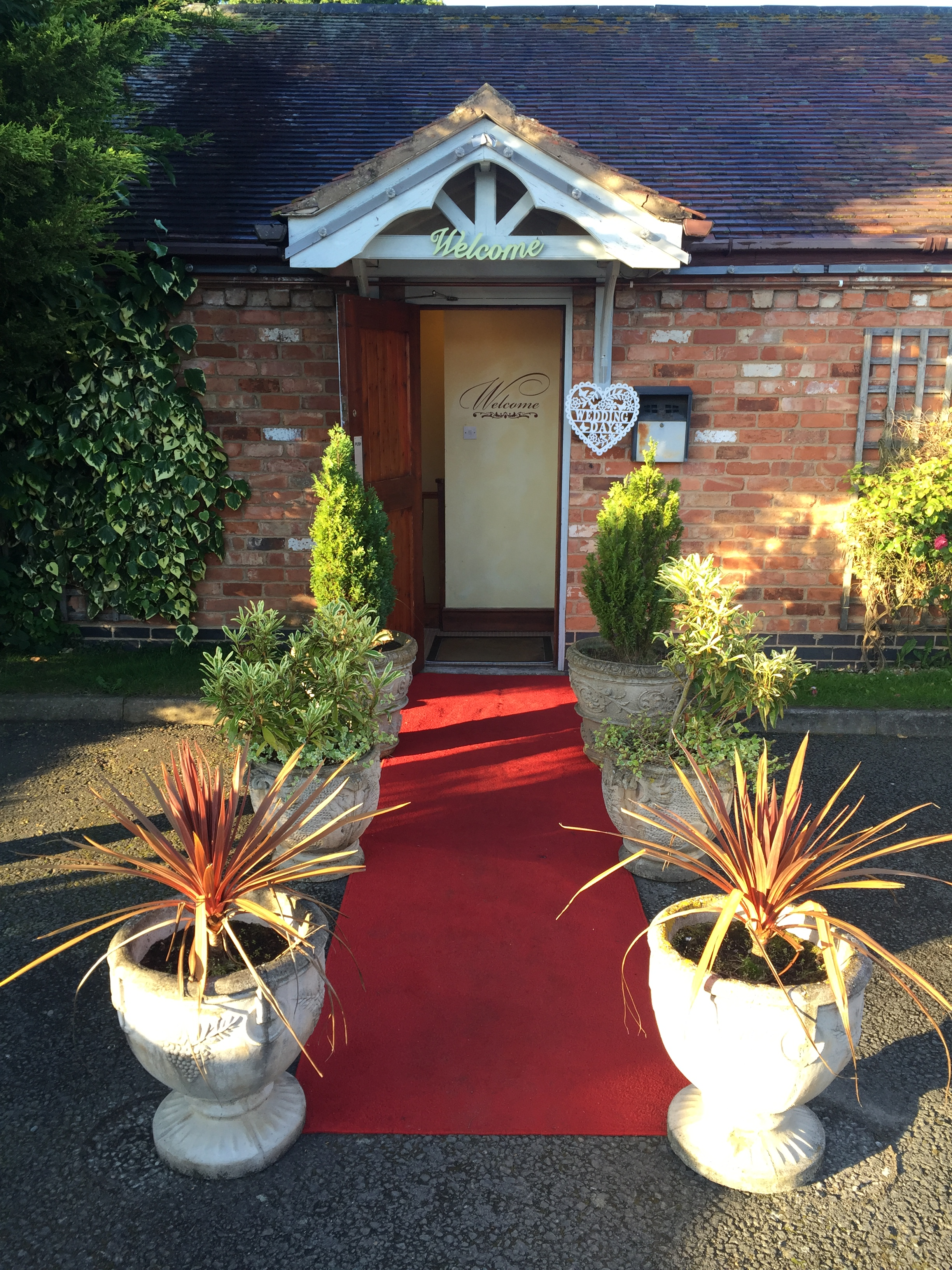 The red carpet treatment at The Royal Arms Hotel, Warwickshire