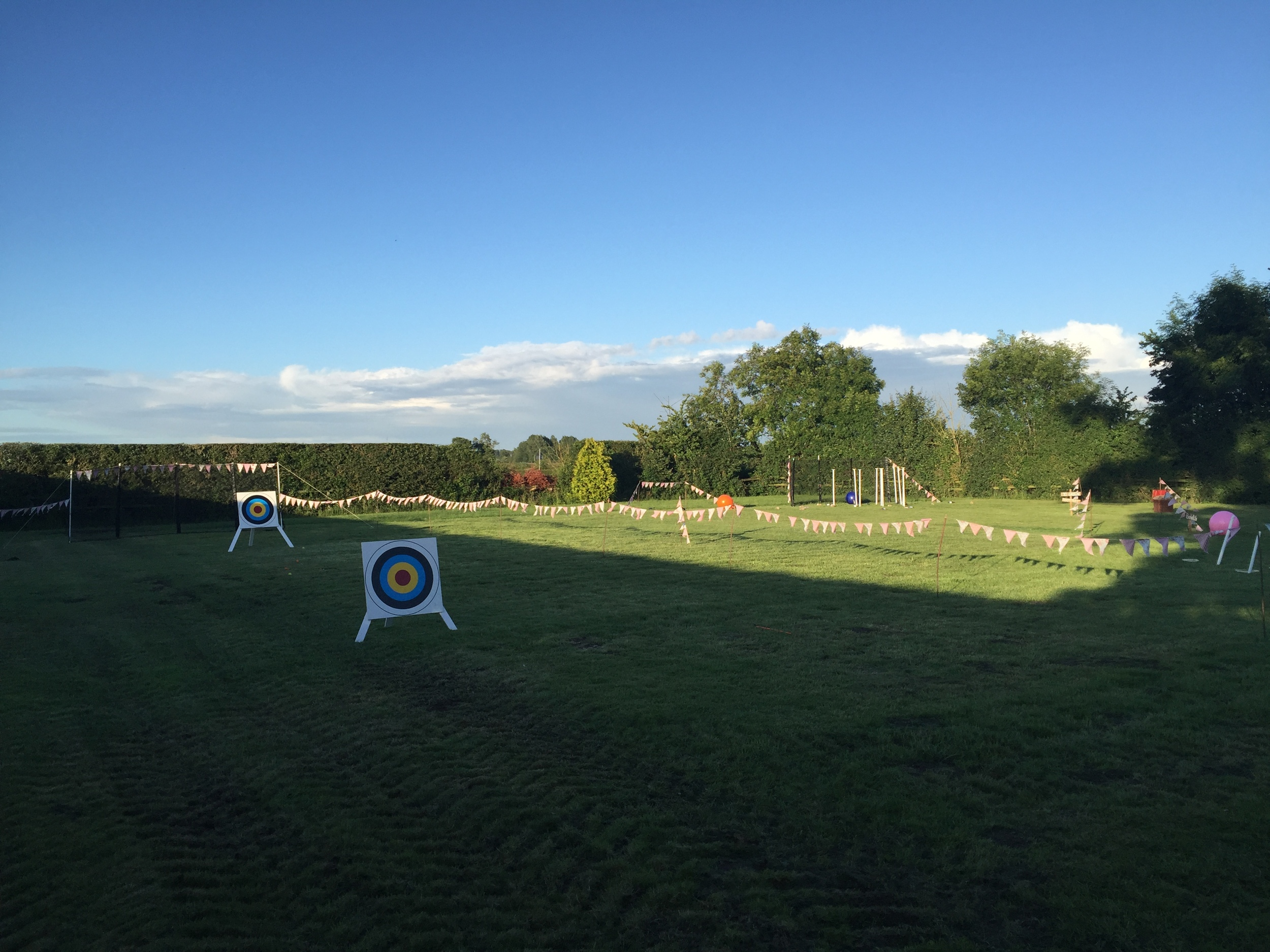 A spot of archery before the big night? Why not!