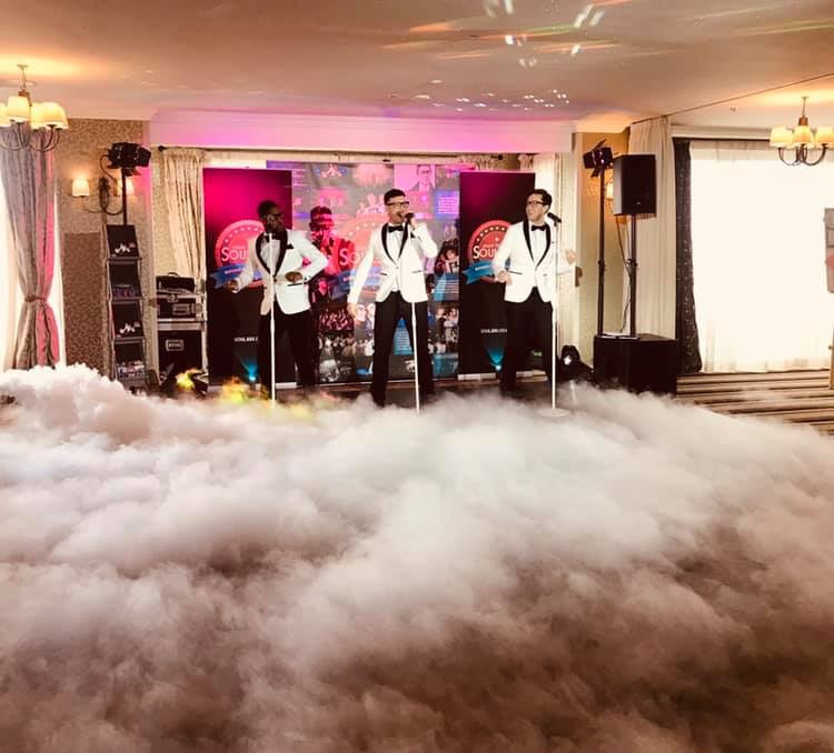 With the cloud machine in full flow The Souljers looked like they were sky high during this performance.
