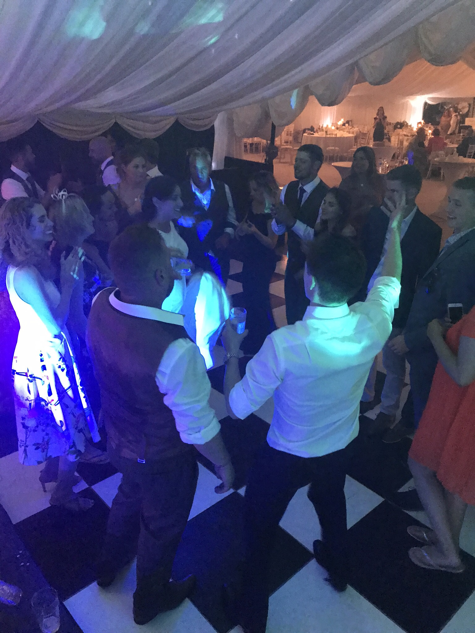 Partygoers all dancing the night away!