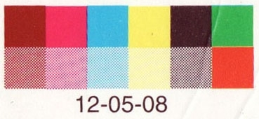 Old El Paso Burritos   A swatch from a food packet. I have started to blog my collection. You can find it here:   http://a-peripheral-vision.tumblr.com/