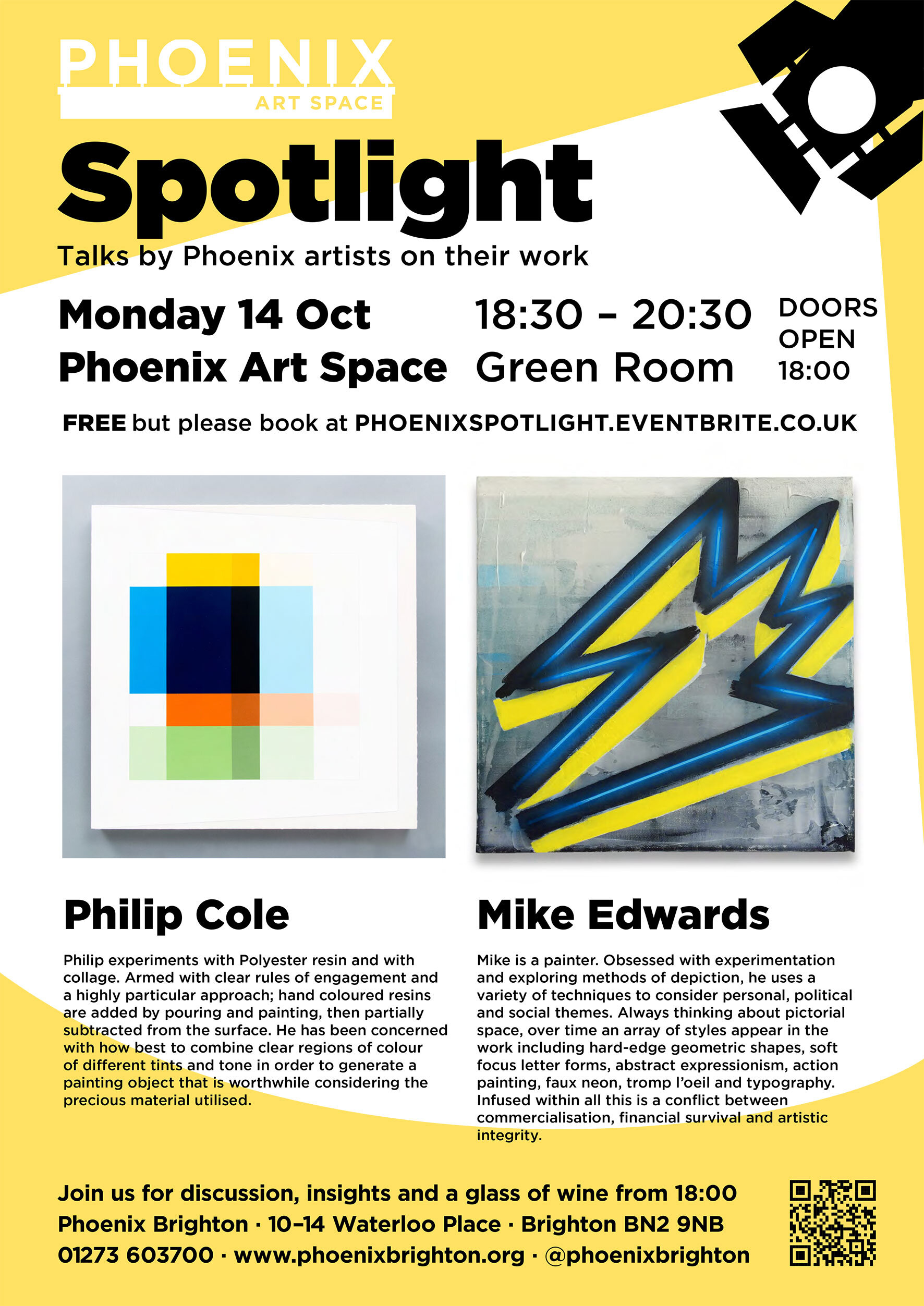 Spotlight at    Phoenix Art Space    Please do come along - i will be talking about my studio practice and generally what makes me tick!  Tickets available from  eventbrite