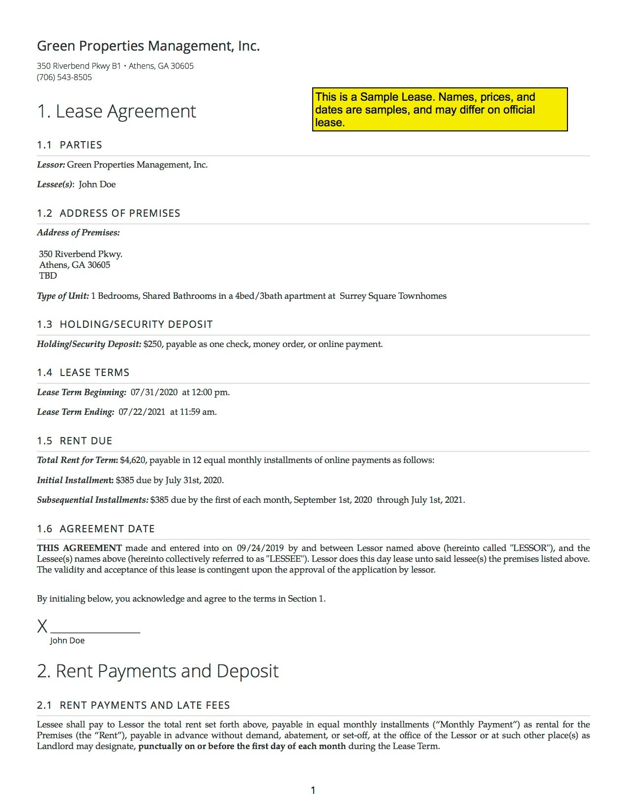 Download an example lease as a PDF.