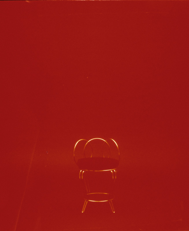 "Covers: Chair (1997) (20""x24"") color photograph"