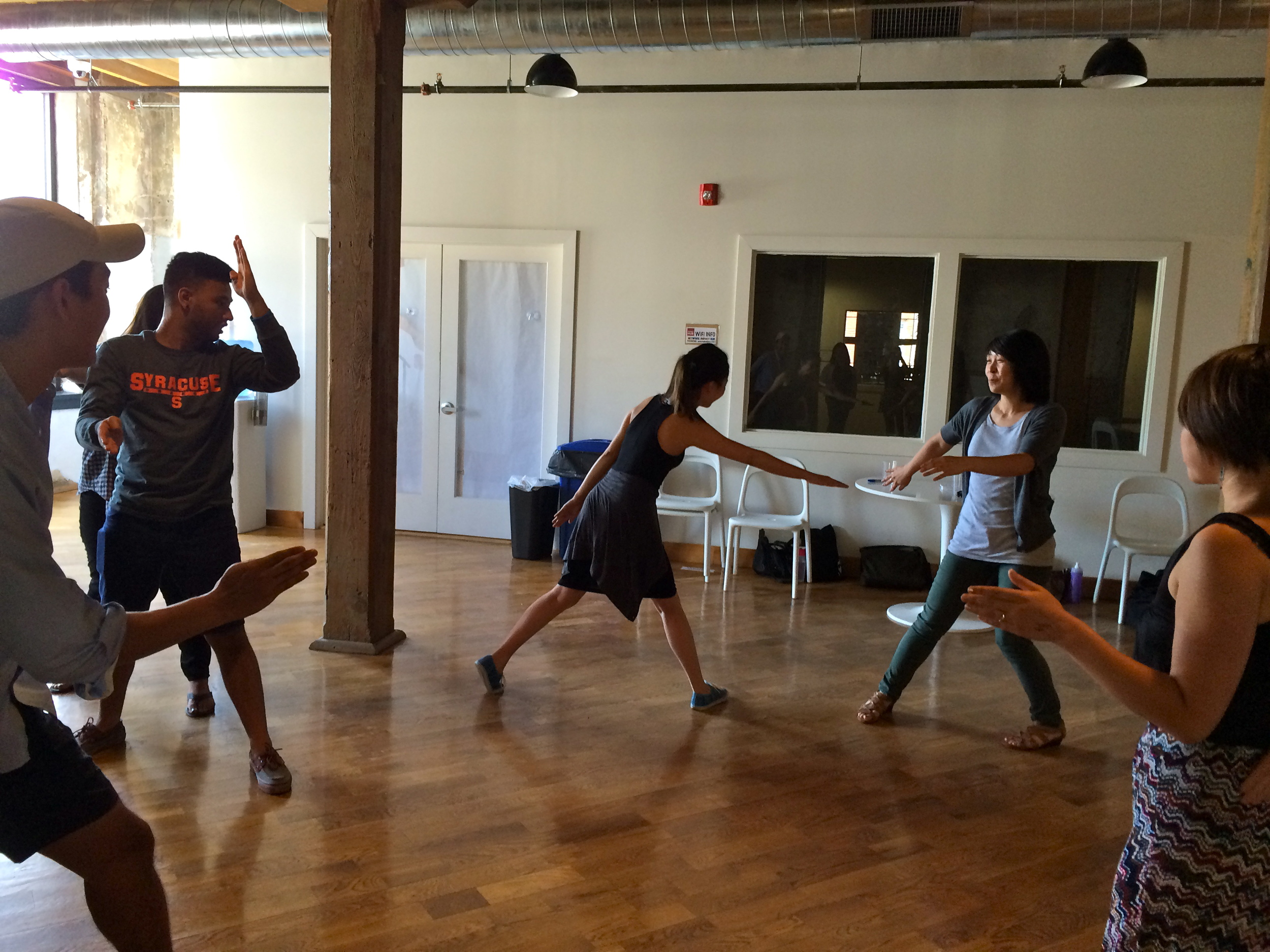 1.This photo shows an exciting game of Ninja that we played the first day of Fellows training back in August. From the first few moments I knew that I was going to be working with an awesome group of fun, upbeat people in an environment that fosters silliness and creativity.