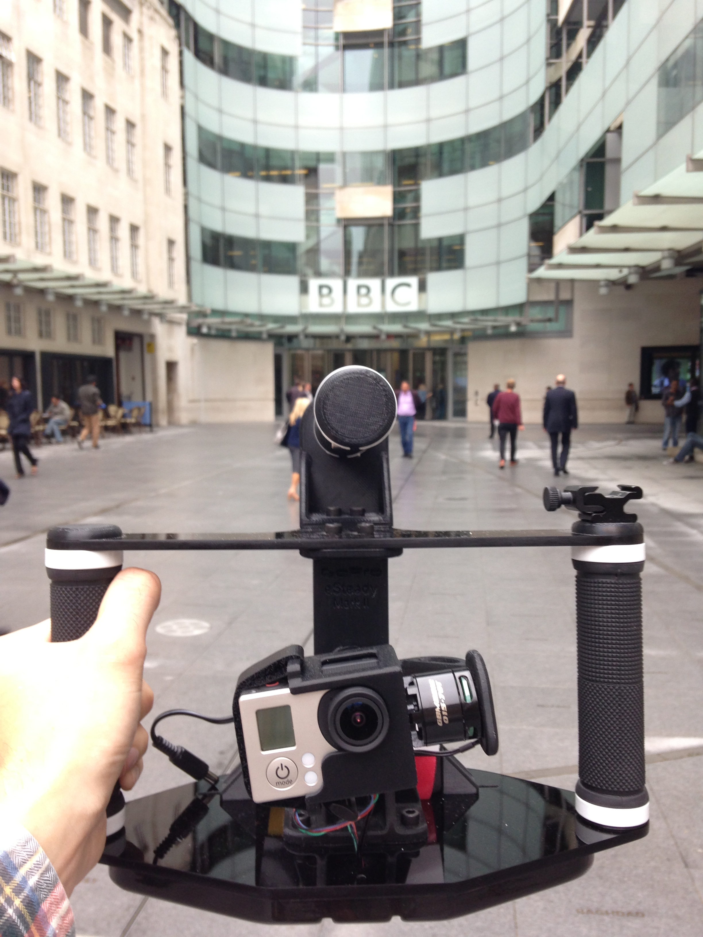 The eSteady about to head into the BBC Broadcasting House.