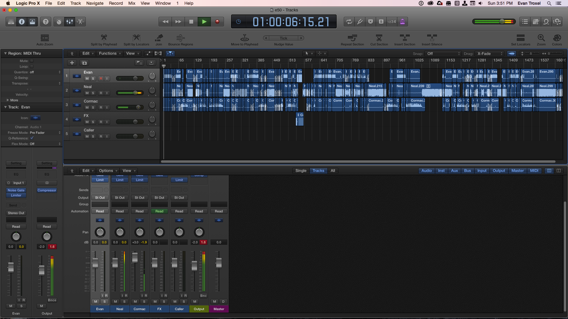 Editing an episode of the Archispeak Podcast