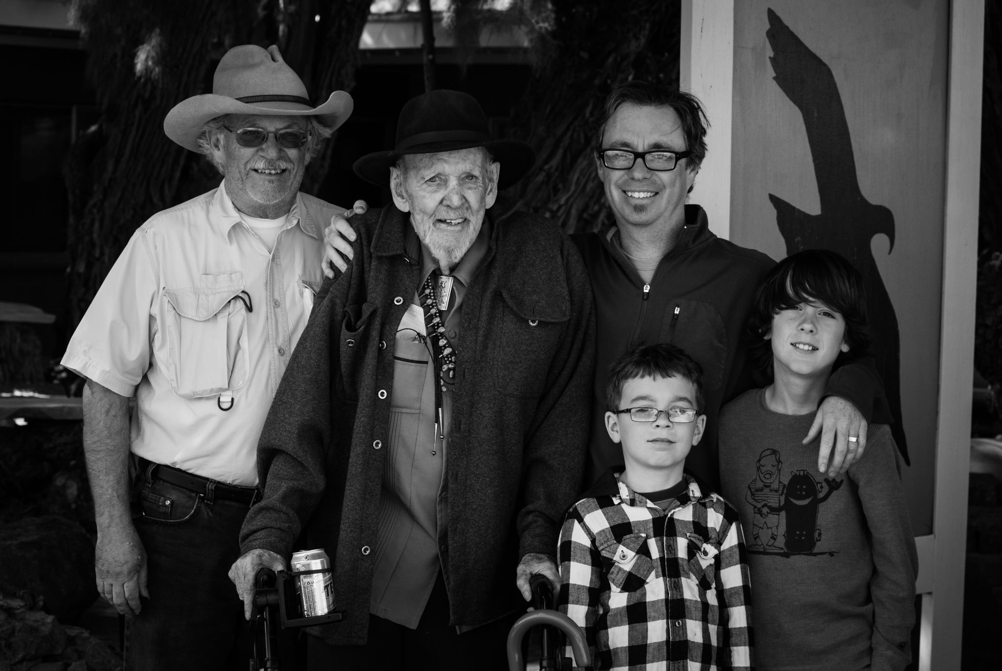 Four generations of Troxel's in Shoshone CA