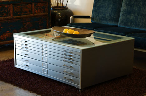 Architect's Flat File As Coffee Table: REHAB Vintage Furniture