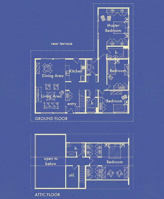Blueprints Collection Plan0860 The Hus1 byGregory La Vardera Architect
