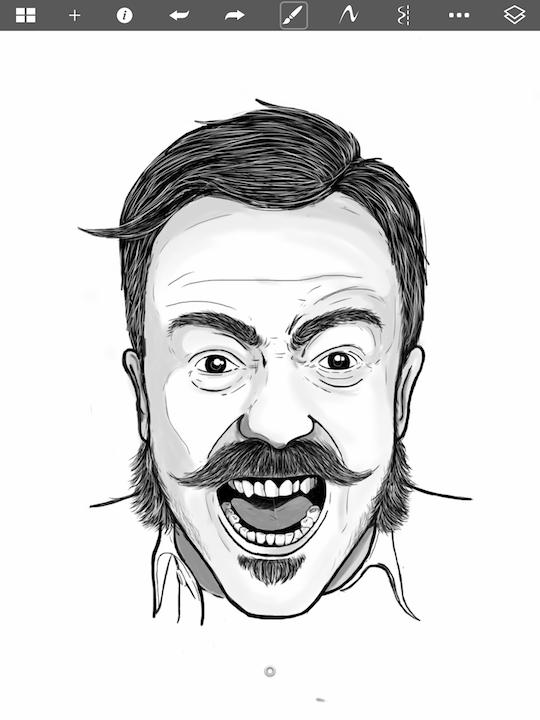 """Rage""sketched in  Autodesk SketchBook on an iPad © 2015 Cormac Phalen"