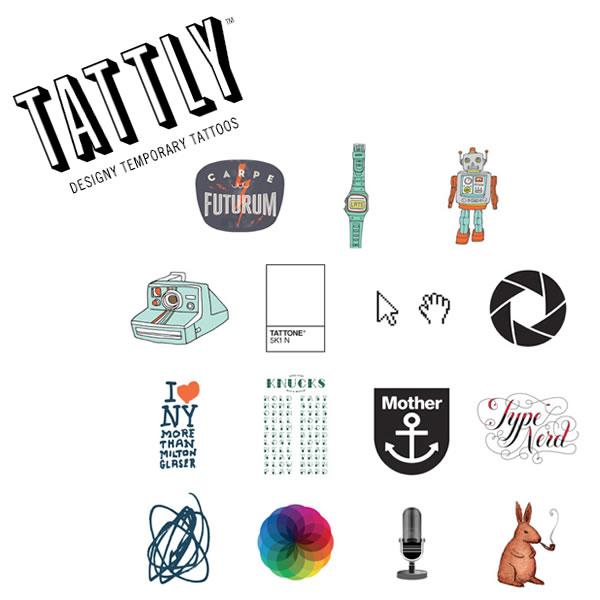 Tattly Designy Temporary Tattoos