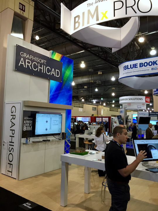 Graphisoft's ArchiCAD booth at #AIACon16