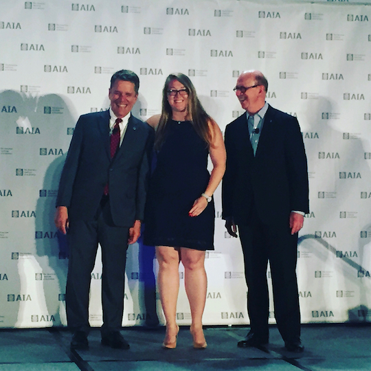 Guest Lora Teagarden accepting her 2017 AIA National Young Architect Award.