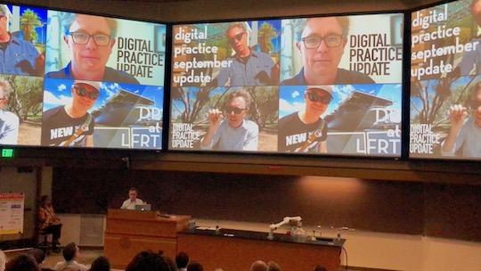 Evan Troxel presenting at the 2019 BIM BOP, photo by Nancy Reyes