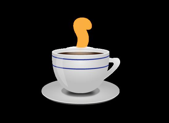 Mmmmm. Hot coffee.