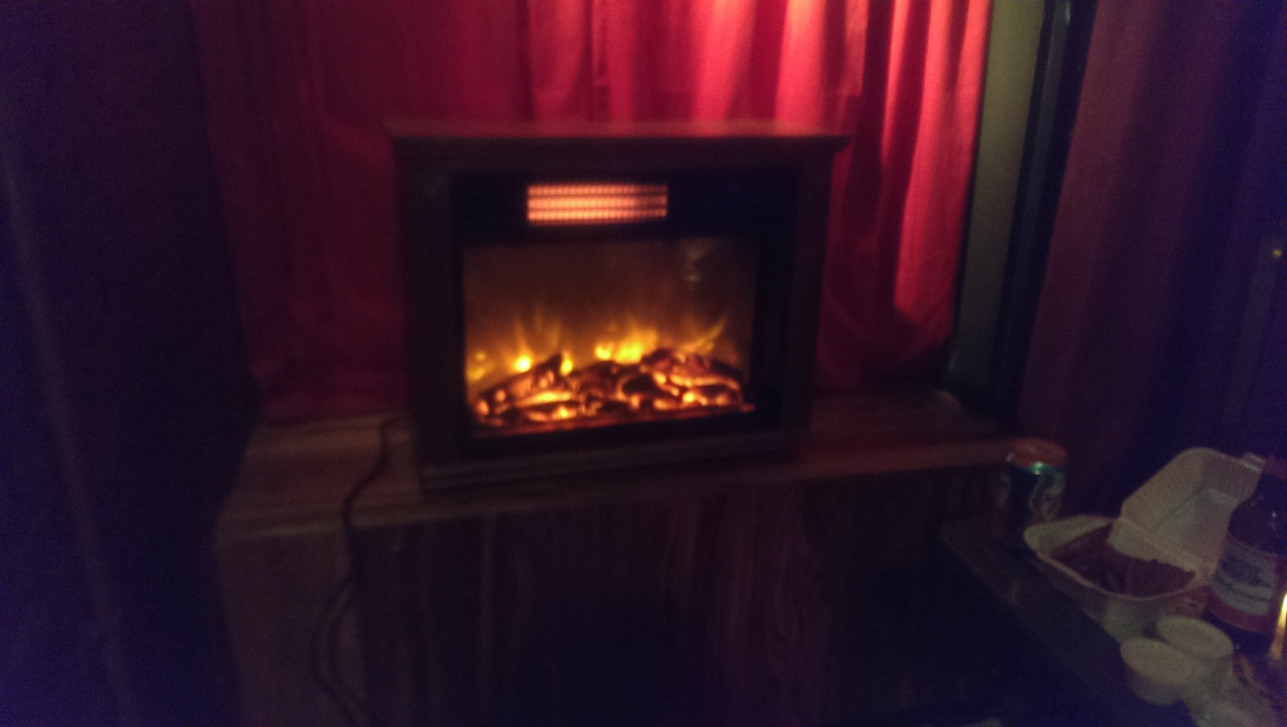 They have a fireplace! (sorta)