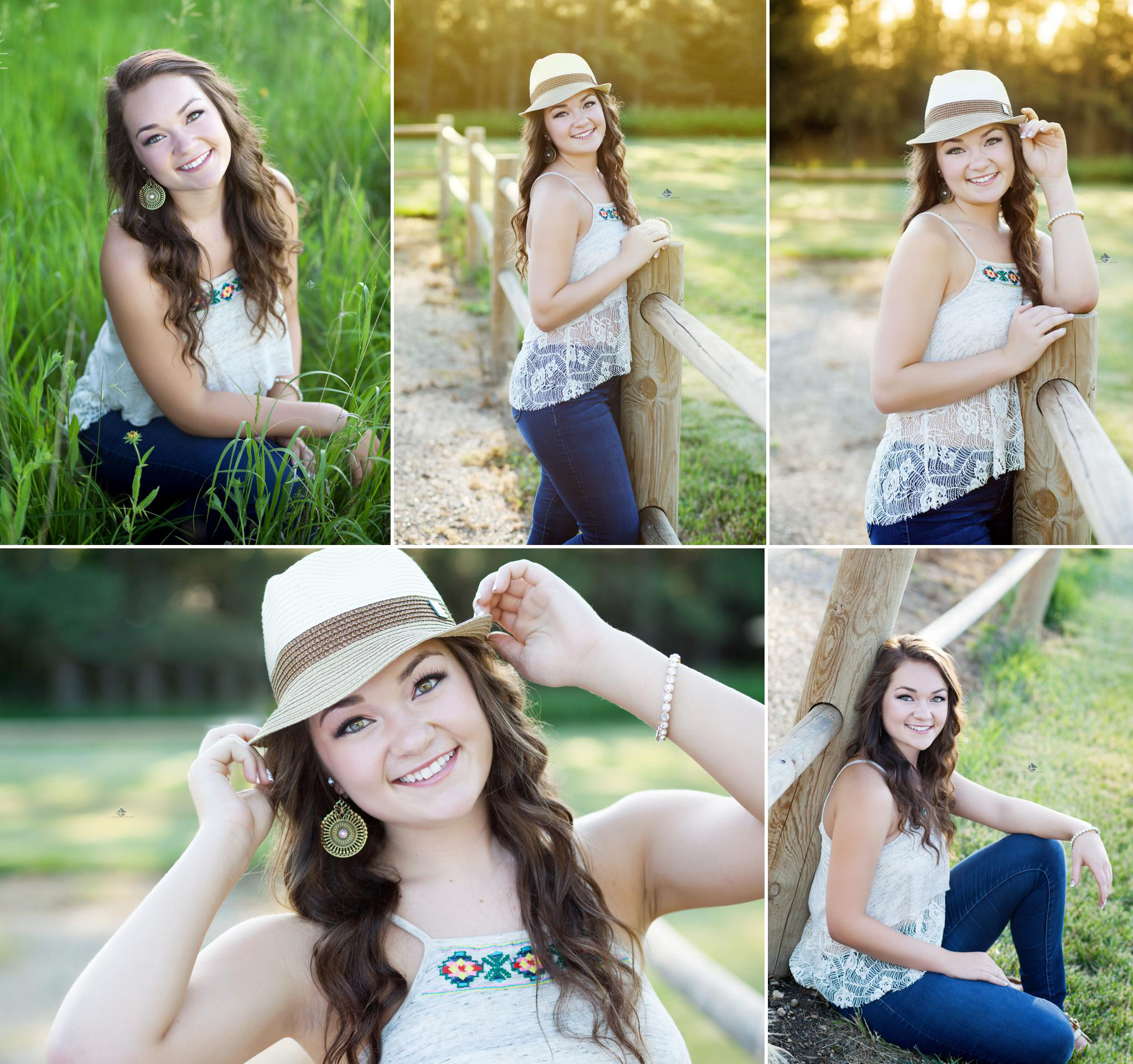 Country Senior Images by Katie Swatek Photography | Senior Photos with a Fedora by Katie Swatek Photography