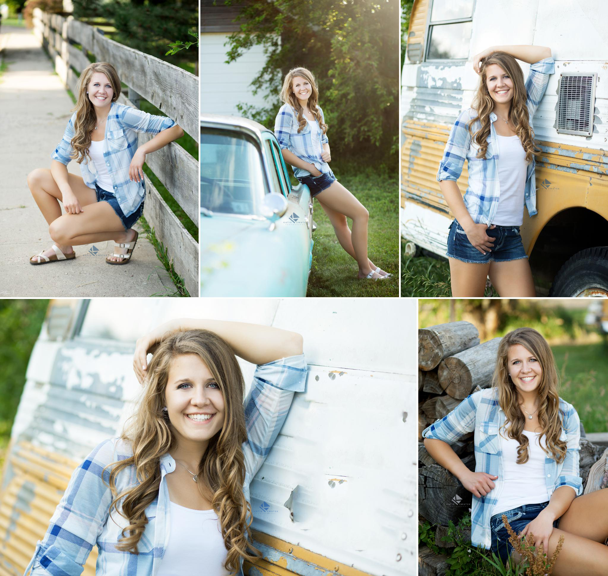 Senior Girl with Old Cars Senior Images by Katie Swatek Photography | Country Senior by Katie Swatek Photography