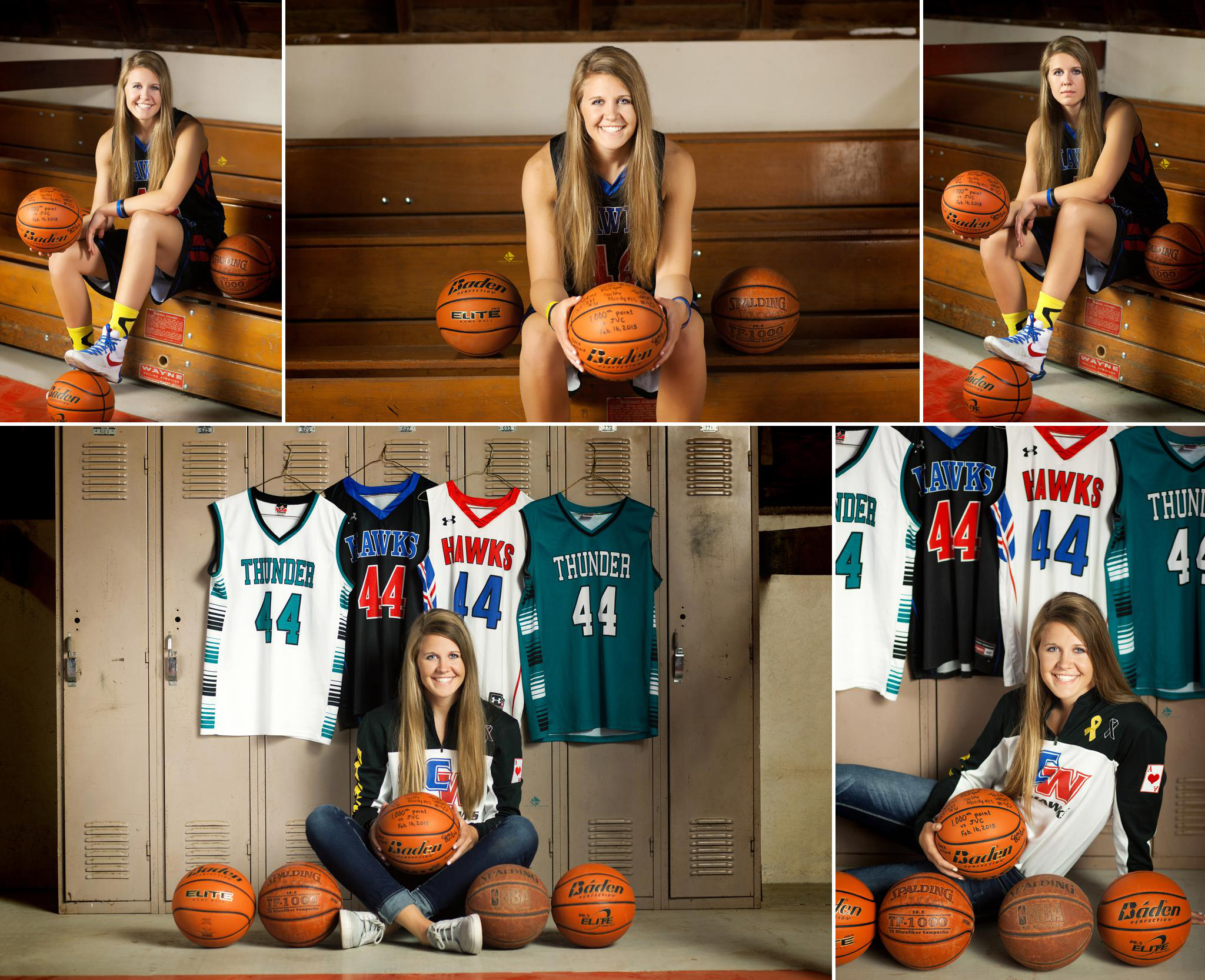 Senior Girl Basketball Images by Katie Swatek Photography | Basketball Court in a Barn by Katie Swatek Photography