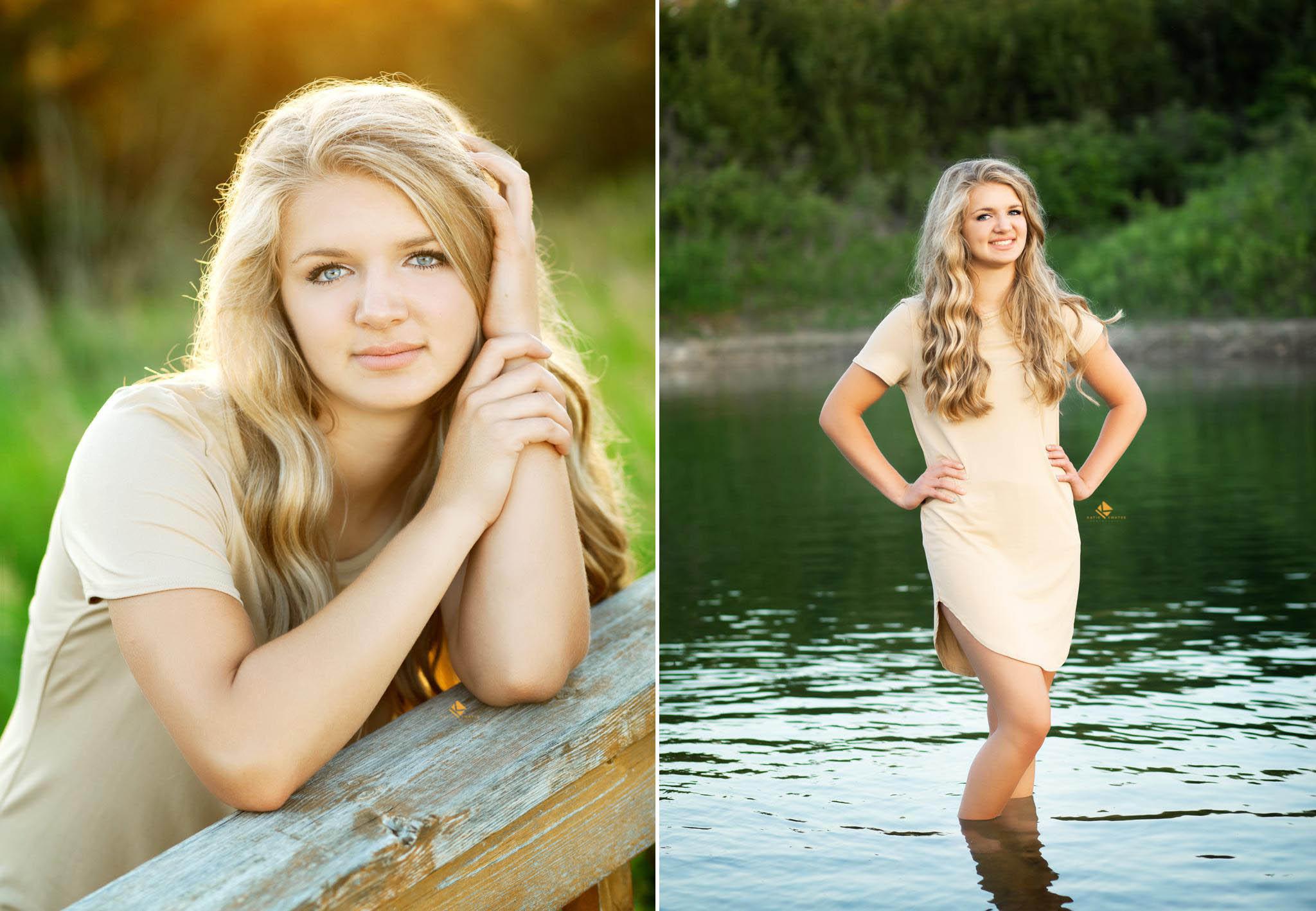Backlit Senior Images by Katie Swatek Photography | Water Senior Photos by Katie Swatek Photography