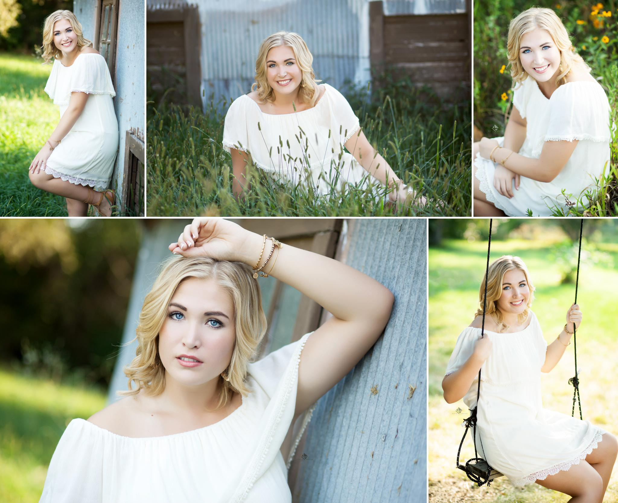 Rustic Senior by Katie Swatek Photography | White Dress Senior Images by Katie Swatek Photography