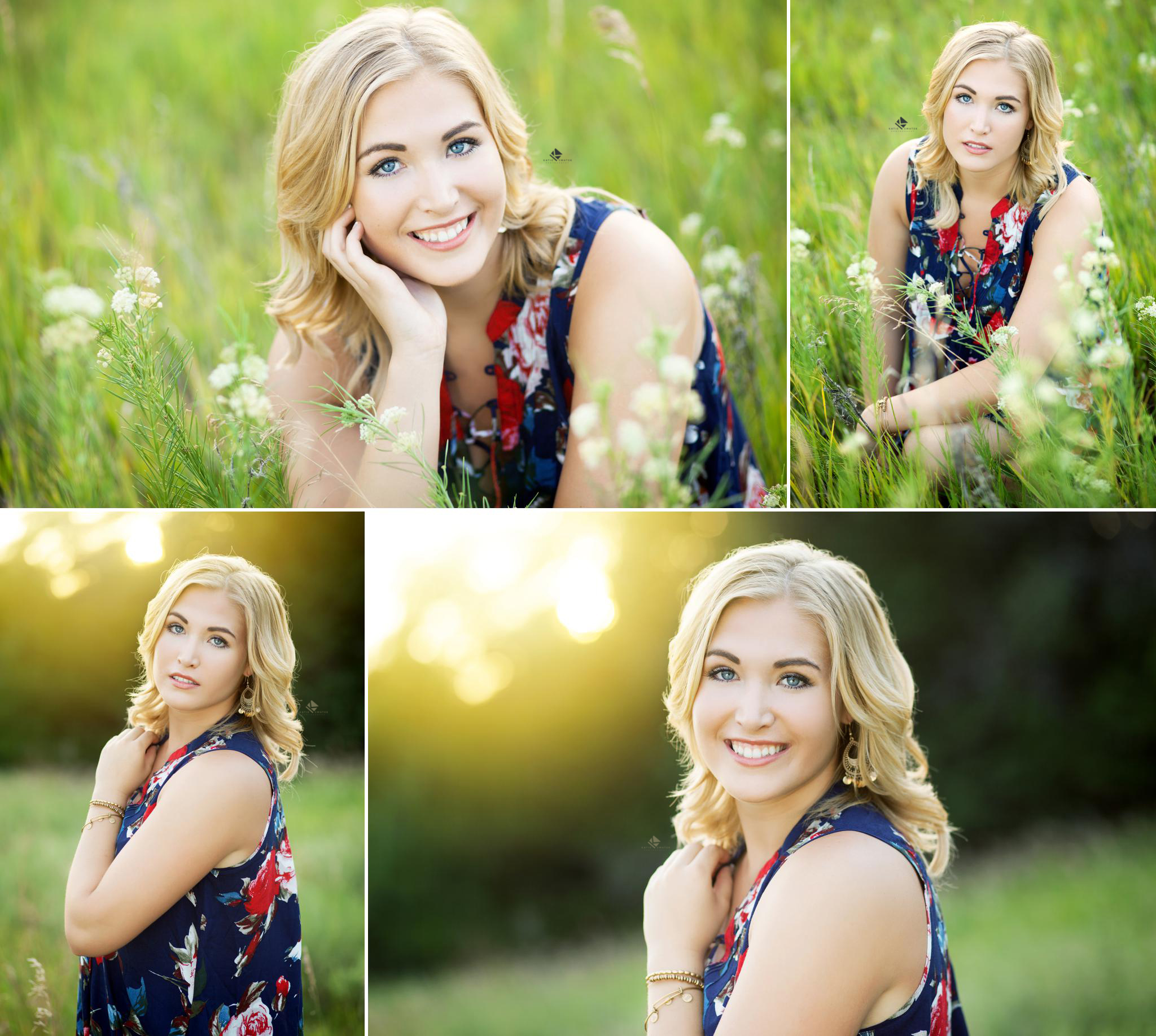Floral Dress Senior by Katie Swatek Photography | Country Senior by Katie Swatek Photography