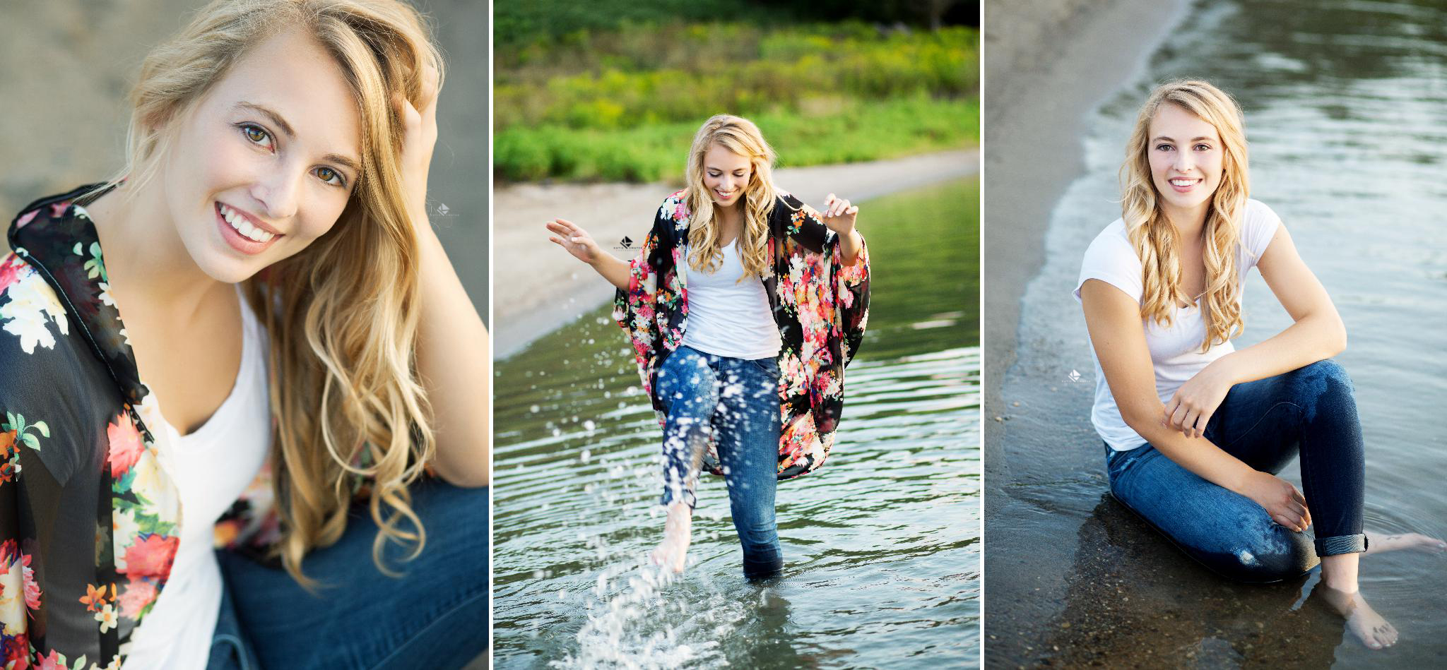 Water Senior Images by Katie Swatek Photography | Midwest Senior Images by Katie Swatek Photography