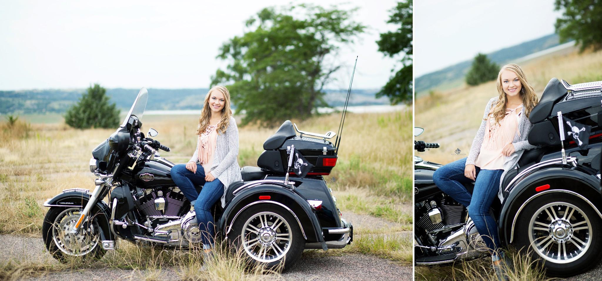 Motorcycle Senior Images by Katie Swatek Photography   Senior Girl Images by Katie Swatek Photography
