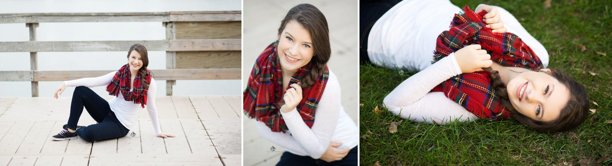 Flannel Scarf Senior Images by Katie Swatek Photography