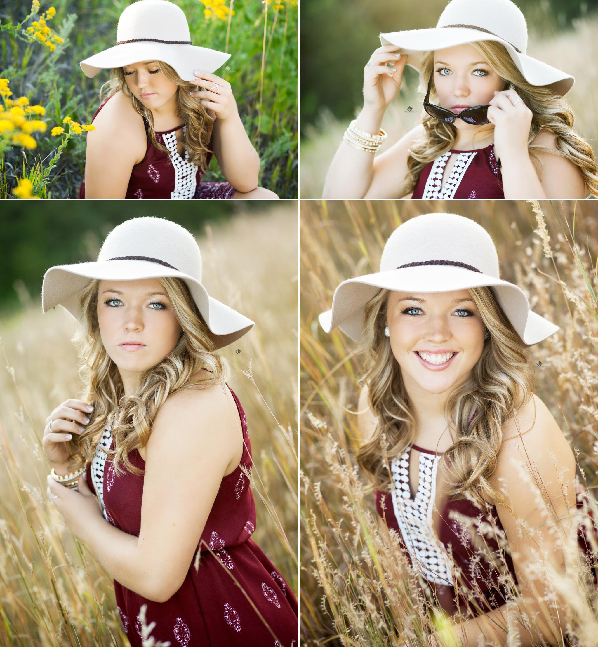 Summer Hat Senior Pictures by Katie Swatek Photography | South Dakota Senior Pictures by Katie Swatek Photography| Field Senior Pictures in South Dakota by Katie Swatek Photography