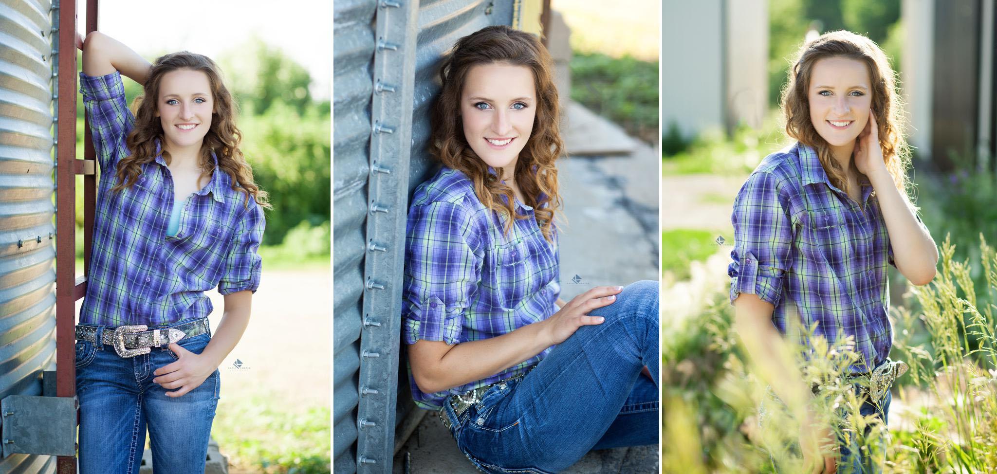 Senior Pictures in South Dakota | Grain Bin Senior Pictures by Katie Swatek Photography | Country Senior Pictures by Katie Swatek Photography
