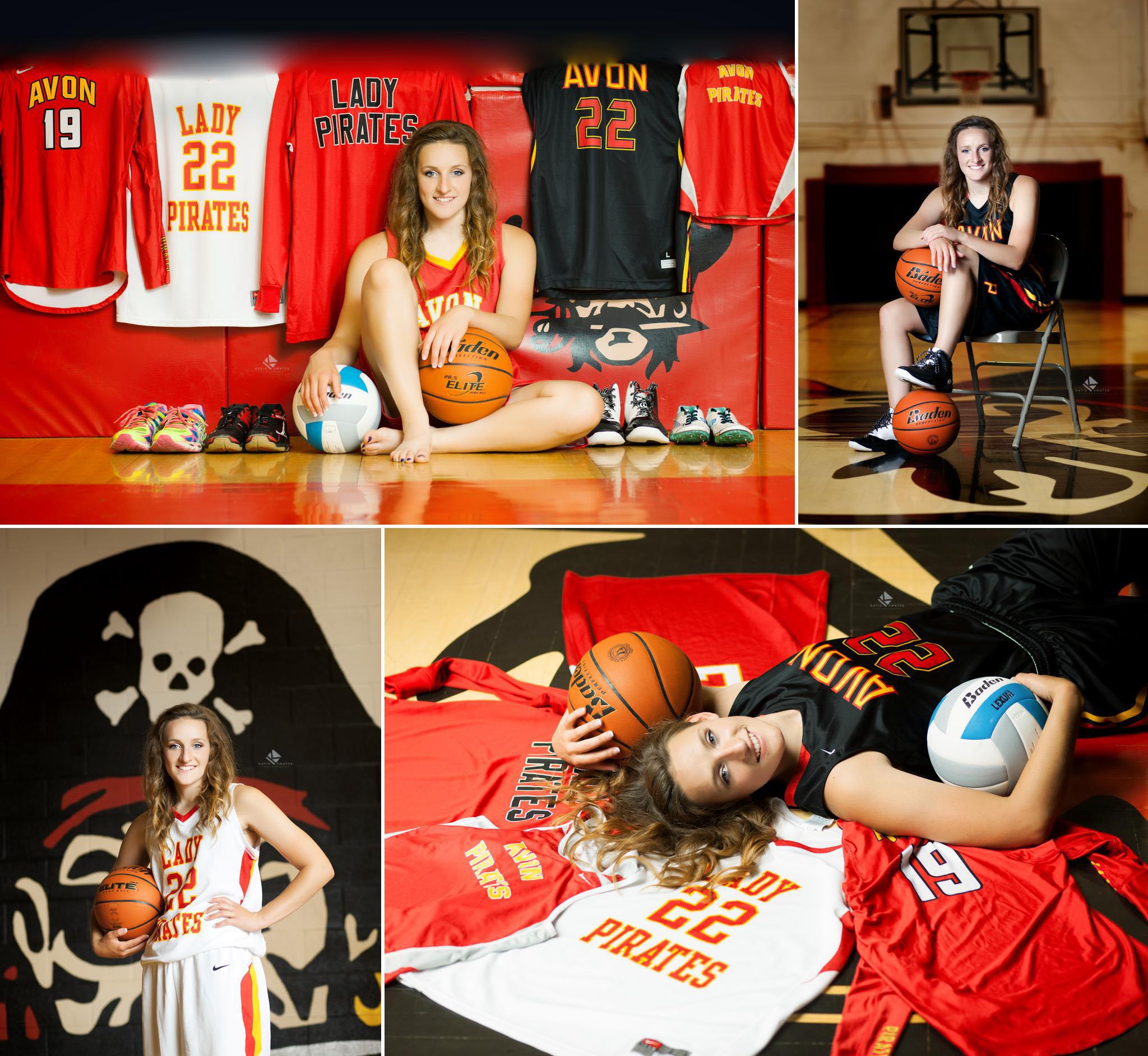 South Dakota Senior Photographer | Sports Senior Pictures by Katie Swatek Photography | Gym Senior Pictures by Katie Swatek Photography