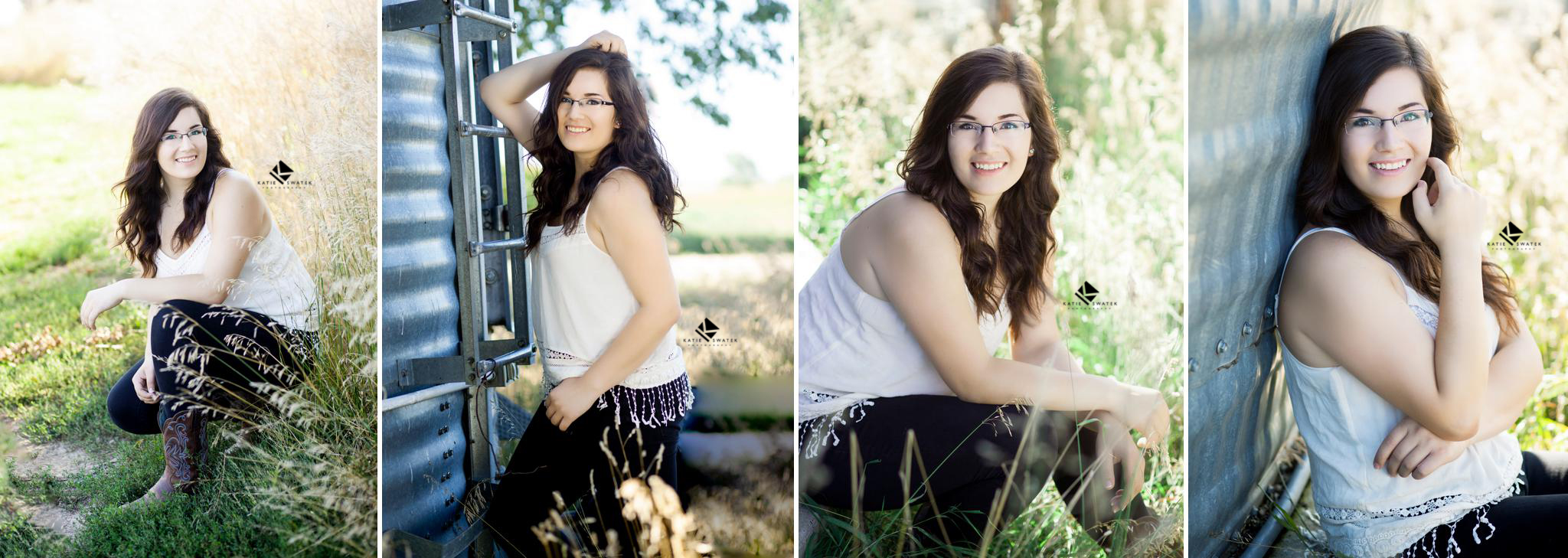brunette nebraska senior on senior picture day by a South Dakota Senior Picture Photographer, Katie Swatek Photography