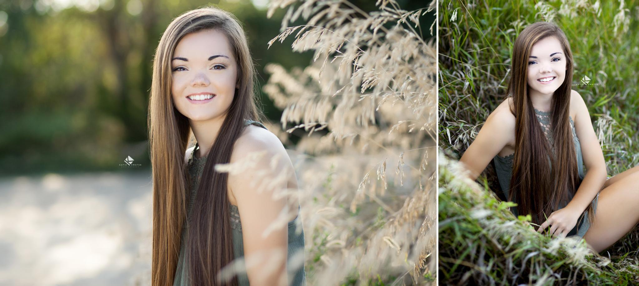 brunette senior girl from South Dakota taking senior pictures by South Dakota Senior Picture Photographer, Katie Swatek Photography