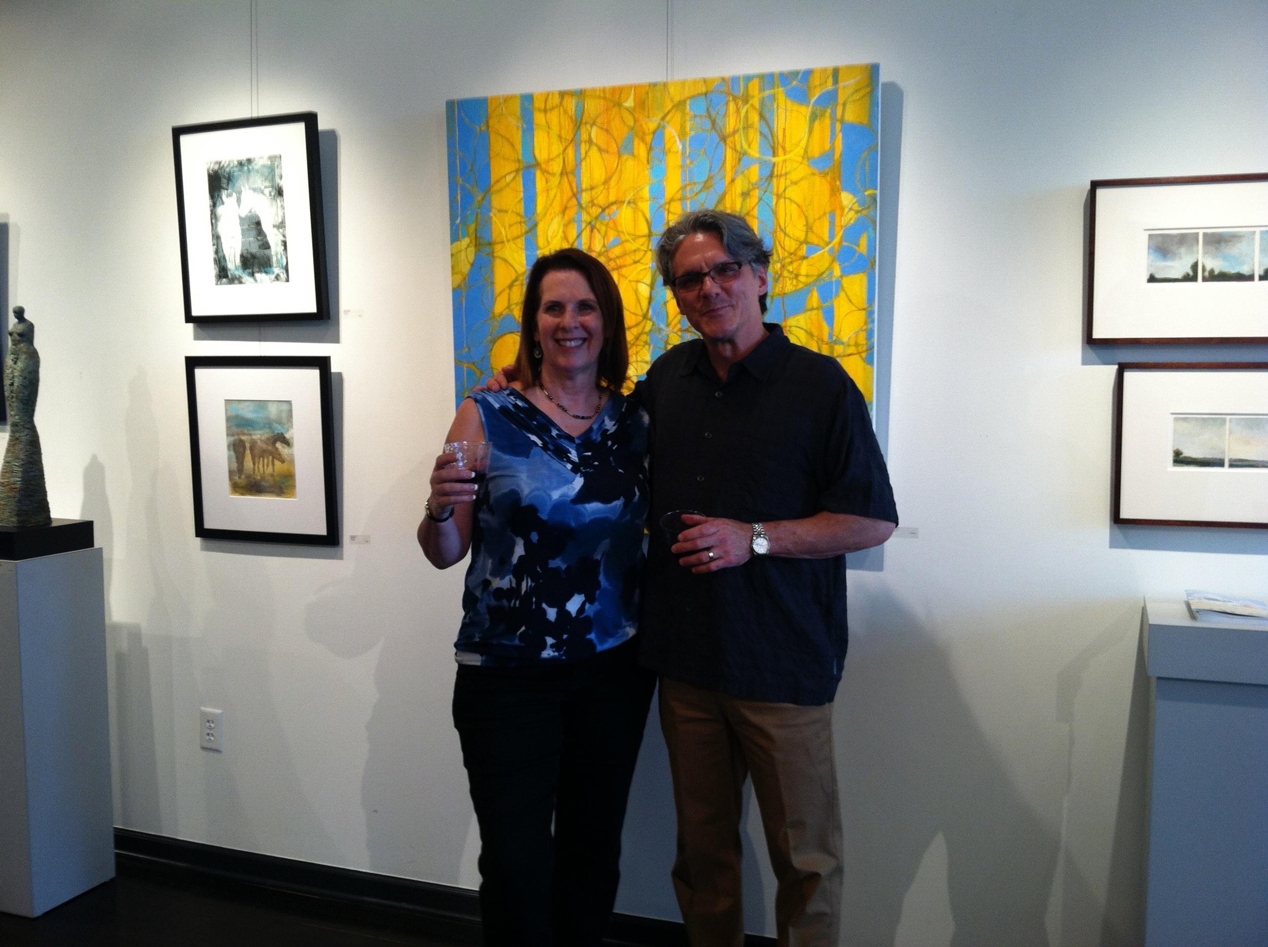 Artetude President, Kenny Offermann with featured artist,  Kenn Kotara