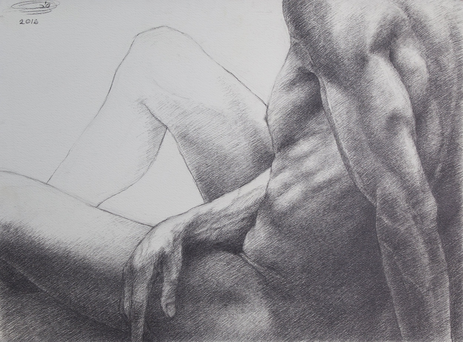 "Pencil on Paper  22""H x 30""W"