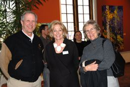 Charlie Gibson, Susan Swartz and  Arlene Gibson